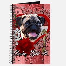 Valentine_Red_Rose_Pug Journal