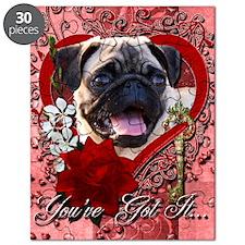 Valentine_Red_Rose_Pug Puzzle