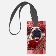 Valentine_Red_Rose_Pug Luggage Tag