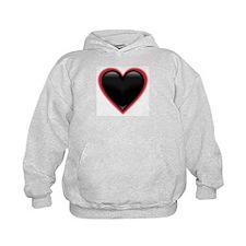 Black Glossy Heart Anti Valentine Hoodie