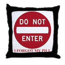 do not enter2 Throw Pillow