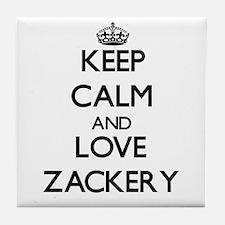 Keep Calm and Love Zackery Tile Coaster