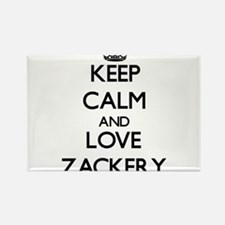 Keep Calm and Love Zackery Magnets