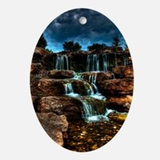 journal_waterfalls Oval Ornament