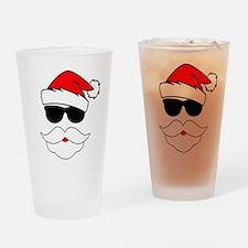 Cool Santa Claus Drinking Glass