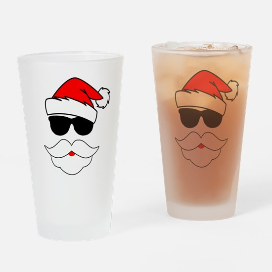Cool Santa Claus Drinking Glass