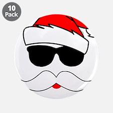 "Cool Santa Claus 3.5"" Button (10 pack)"