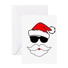Cool Santa Claus Greeting Card