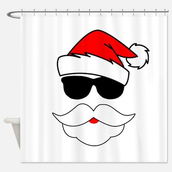 Cool Santa Claus Shower Curtain