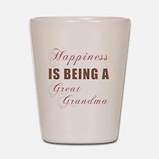 Happiness_GreatGrandma Shot Glass