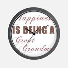 Happiness_GreatGrandma Wall Clock