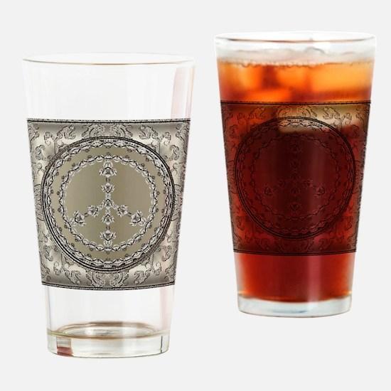 elegant peace 10x10 Drinking Glass