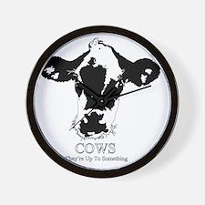 Suspicious Cows Wall Clock