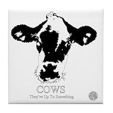 Suspicious Cows Tile Coaster