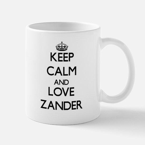 Keep Calm and Love Zander Mugs