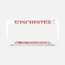 Winchester red License Plate Holder