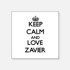 Keep Calm and Love Zavier Sticker
