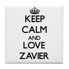 Keep Calm and Love Zavier Tile Coaster