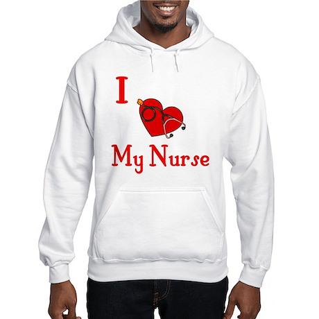 I Love My- Nurse Hooded Sweatshirt