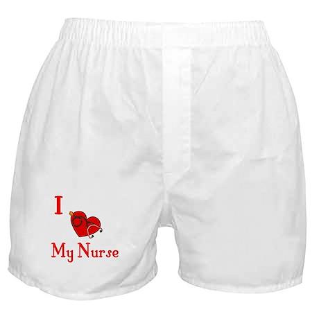 I Love My- Nurse Boxer Shorts