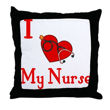 I Love My- Nurse Throw Pillow