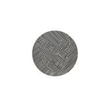 skull optical illusion Mini Button