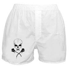 skullrose_0343_10x10b Boxer Shorts