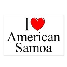 """I Love American Samoa"" Postcards (Package of 8)"