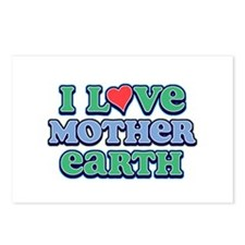 I Love Mother Earth Postcards (Package of 8)