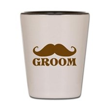Groom Mustache Shot Glass