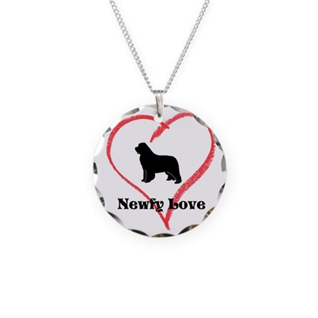 Newfy Love Necklace Circle Charm