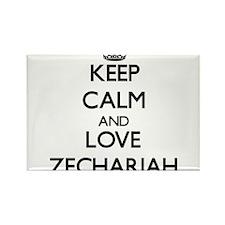 Keep Calm and Love Zechariah Magnets