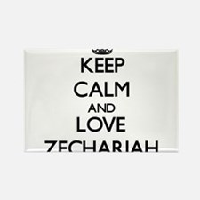 Keep Calm and Love Zechariah Magnets