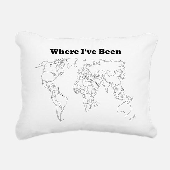 where ive been Rectangular Canvas Pillow