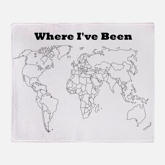 where ive been Throw Blanket
