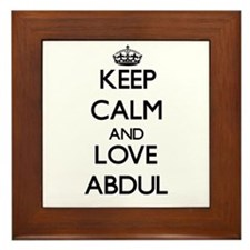 Keep Calm and Love Abdul Framed Tile