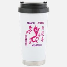 Tribal pink dragon Travel Mug