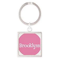 Brooklynn_Button Square Keychain