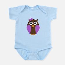 Purple Owl Body Suit