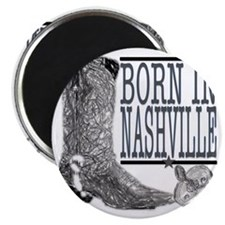 Born in Nashville (Black) Magnet