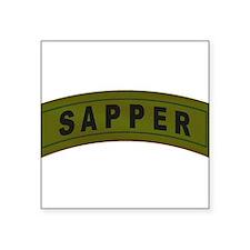 Sapper Tab Rectangle Sticker