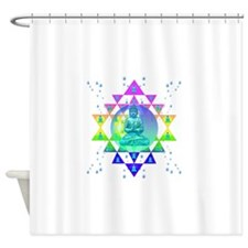 COSMIC_BUDDHA Shower Curtain
