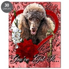 Valentine_Red_Rose_Poodle_Chocolate Puzzle