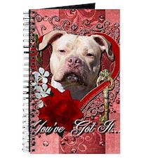 Valentine_Red_Rose_Pitbull_Jersey_Girl Journal