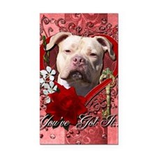 Valentine_Red_Rose_Pitbull_Je Rectangle Car Magnet
