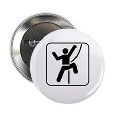 "ClimbingBroke White 2.25"" Button"