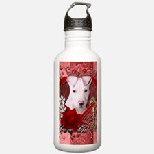 Valentine_Red_Rose_Pit Water Bottle