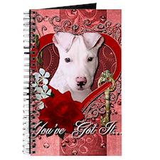 Valentine_Red_Rose_Pitbull_Petey Journal