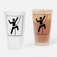 ClimbingBroke Black Drinking Glass