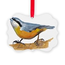 simon nuthatch Picture Ornament